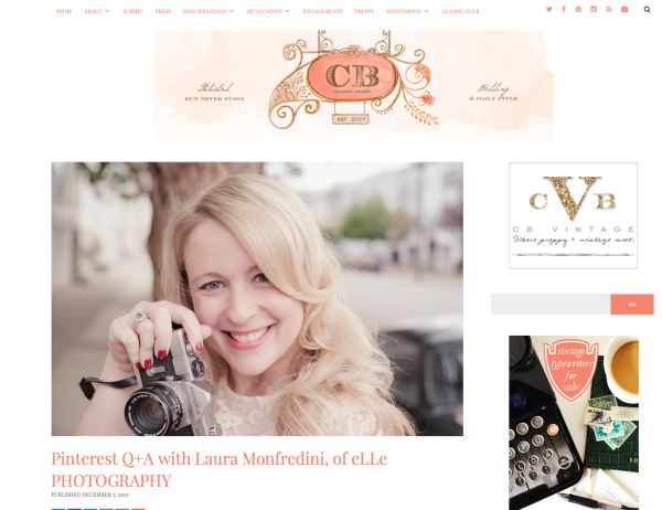 interview classic bride blog with laura monfredini