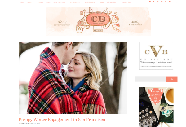 preppy winter engagement classic bride by laura monfredini