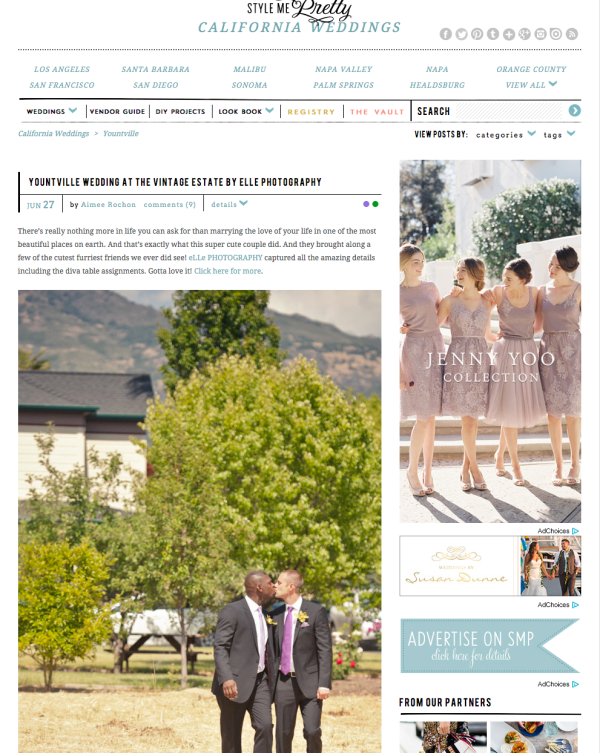 style me pretty napa wedding at vintage estates